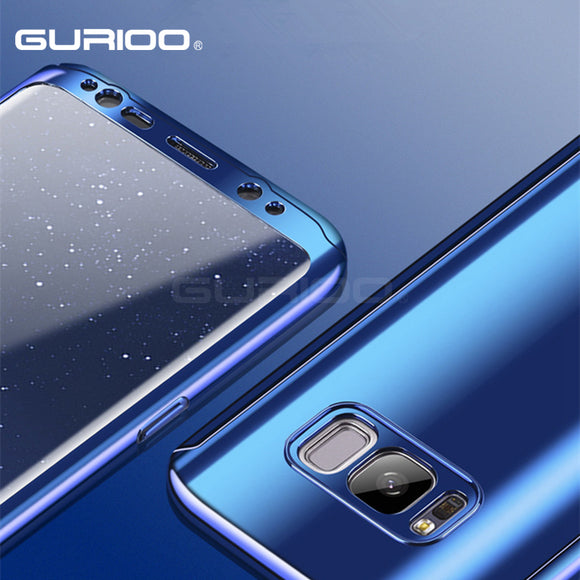 GURIOO For Samsung Galaxy S7 Edge Case S8 S8 Plus Luxury Ultra Thin Plating Mirror 360 Full Protection Cover For Galaxy S7 Case