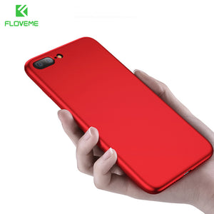 FLOVEME For iPhone 8 iPhone 7 Plus 6 6S Plus Case Luxury Smooth Touch Thin Silicon Phone Cases For iPhone X 5S 5 SE Accessories