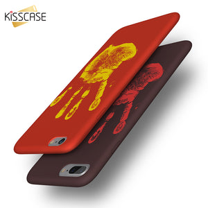 KISSCASE Ultra Thin Cool Case For iPhone X 8 Case Heat-sensitive Changing Color Soft Cover For iPhone 8 iPhone 6 6S 7 5S Cases