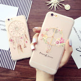 Super Cute 3D relief Phone Case For iPhone X 7 8 6 6S Dream Catcher Ultra Thin Cover Fundas Capa For iPhone 6 6s plus 7P 8 Plus