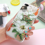 FLOVEME 3D Flower Case For iPhone 5S 5 SE 6 6S iPhone X 7 8 Plus Cases Silicon Phone Cover For iPhone 8 7 6 6S Case Accessories