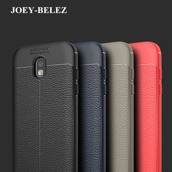 JOEY-BELEZ Luxury Armor Cover for Samsung J3 J5 J7 2017 Case Leather Carbon Fiber for Samsung S8 plus S7edge J2 Prime A5 A7 2018