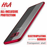 H&A Slim Phone Case For Samsung Galaxy S8 S8 Plus NOTE 8 A5 A3 A7 Electroplated TPU Soft Cover For Samsung S7 Edge S8 Plus Cases