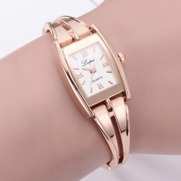 Lvpai Brand Women Watches Gift Reloj oro Rosa Mujer Ladies Bracelet Quartz WristWatches Relogio Feminino Femme Creative Watches