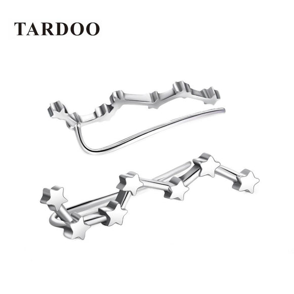 Tardoo 925 Sterling Silver Hook Earrings Seven Stars Modelling Brilliant Shining Earrings Silver 925 Jewelry for Women