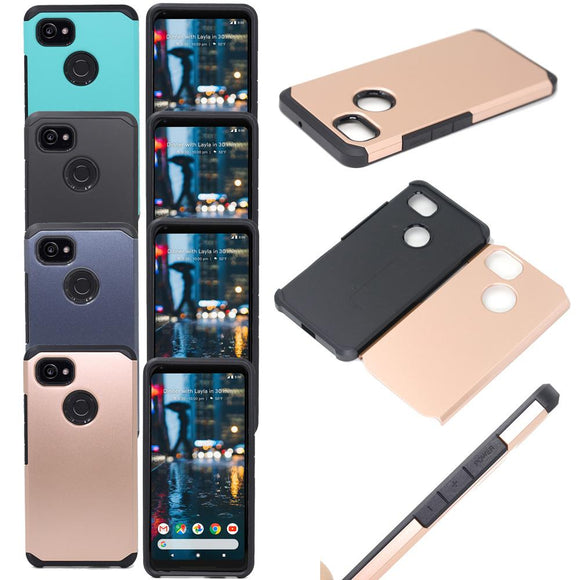 Dual Layer Hybrid Armor Case For Google Pixel 2 XL Shockproof Soft Rubber TPU&Hard PC Back Phone Cover For Google Pixel 2 XL XL2