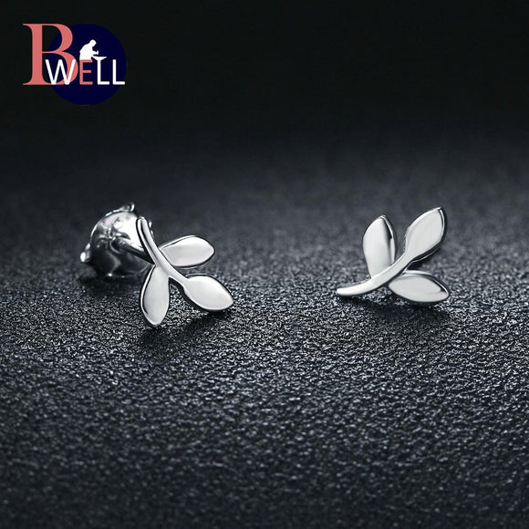 Bwell New Korean Sweet And Romantic Polishing Earrings 100% 925 Real Sterling Silver Fine Jewelry For Women & Girls Gift BWEY218