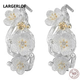 LARGERLOF 925 Sterling Silver Earrings For Women Fashion Jewelry Earrings Flower ED10086