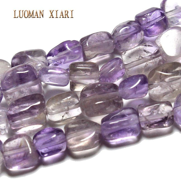 Fine AAA+ Irregular Natural Amethyst Beads For Jewelry Making DIY Bracelet Necklace Material about 6-9mm Strand 15''