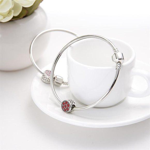 Meajoe Trendy Silver Plated Bracelets & Bangle Vintage Charm Round Metal Bead Bangles Jewelry For Women Friend Gift DIY Jewelry