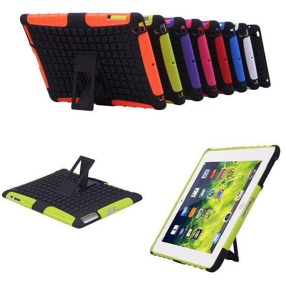For ipad 2 3 4 Case Cover Rugged Heavy Duty Hard Case Shockproof Non Slip Stand Tablet Case For Apple Ipad with Stylus 8 Colors