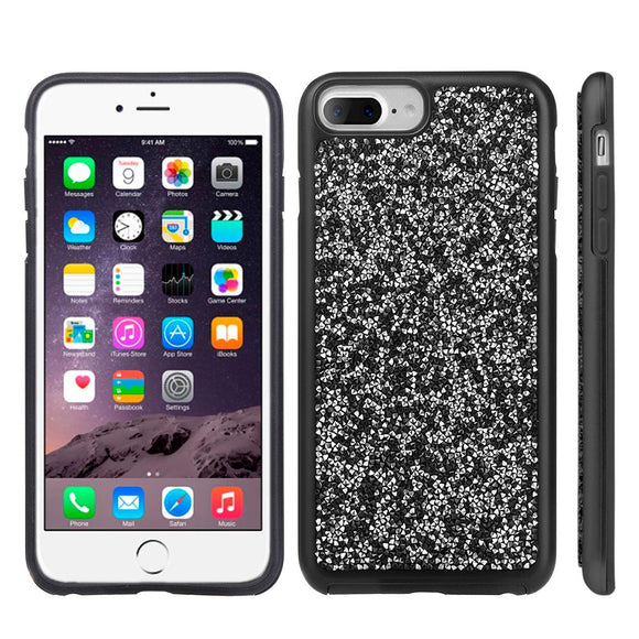 LUXMO Diamond Phone Case for iPhone 6/6S Plus Back Cover Hybrid Bumper Case Capa for iPhone 7/8 Plus Diamond Rock Crystal Cases