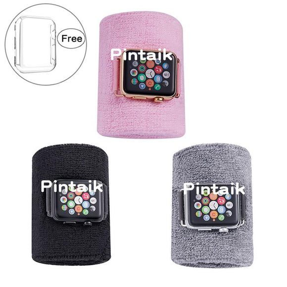 Pintaik Sport Wristbands for Apple Watch Series 3/2/1 2018 Sweatband for Men Women Baseball Basketball Yoga Football Arm Band