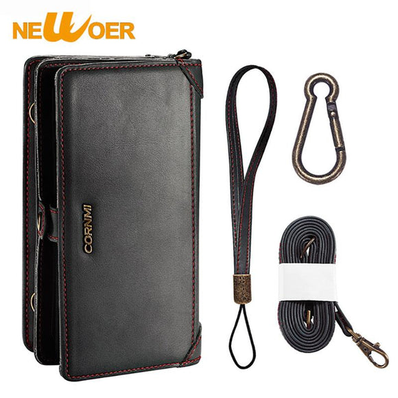 Original NEWOER New PU Leather Case For iphone 7 Plus 8 Plus Leather Case Wallet Package Bag Business Case