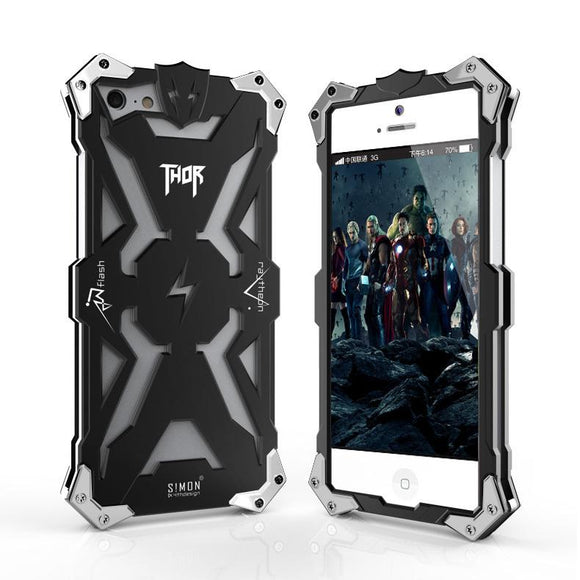New Original Design metal Shell of Cool Metal Aluminum THOR IRONMAN protection phone cover shell case for iphone 5 5G 5S SE