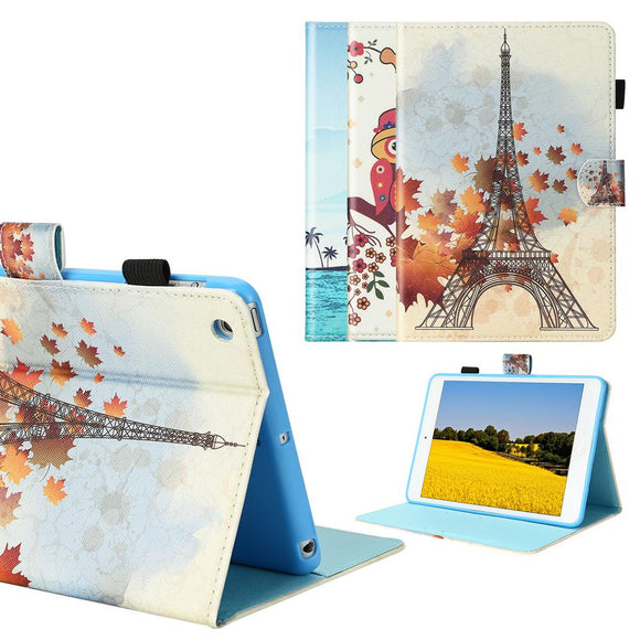 Tablet Case for ipad mini 7.9 inch PU Leather Art Printed Folio Smart Cover Auto Sleep/Wake Stand Wallet Case Trifold Stand