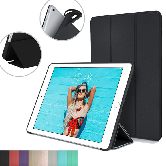 Magnet Smart Stand Cover for Apple iPad 9.7-inch 5th Generation For New Ipad 2017 9.7 inch with Flexible Soft Back TPU Case