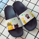 Women Slippers Summer Women Slides Cute Cat Cartoon Platform Sandals Slip On Flip Flops Beach Slippers Zapatillas Mujer