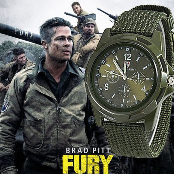 Luxury Men Military Army Bomber Pilot Canvas Strap Sports Men Boy Wrist Watch Men Nylon Analog Quartz Clock Relogio Masculino
