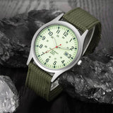 Military Army Men's Date Canvas Band Stainless Steel Sport Quartz Wrist Watch relojes hombre 2017 montre homme july11