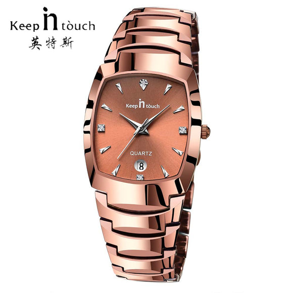KEEP IN Touch Casual Dress Mens Watches Rose Gold Luxury Brand Mans Watch Quartz Hot Sale Waterproof orologio uomo Dropshipping