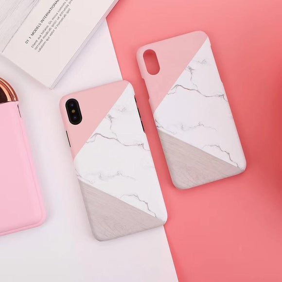 Marble Patterned Phone Cases For iPhone 6S 6 7 8 Plus XS Max Ultra Thin Hard Shell For iPhoneX 10 XR 5S 5 SE Pineapple Case