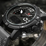 NAVIFORCE 9095 Watch Men Luxury Brand Men Quartz Sports Military Watches Men Digital Casual Electronic Waterproof Quartz-watch