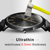 6.5mm Ultra-thin Watch Men's Elegant Fashion KEMANQI Watches Simple Business Men Quartz Watches Roman Masculine Male Clock reloj