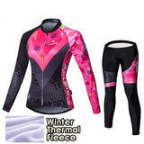 Malciklo 2019 Winter Thermal Fleece Invierno Women Cycling Clothing Pro Team Long Sleeve Jersey + BIB Pants Cycling Sets