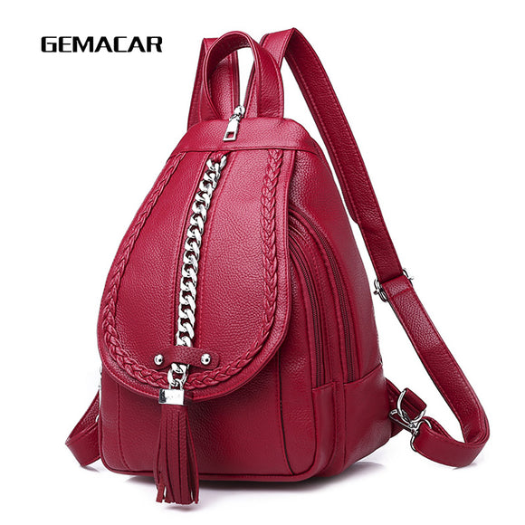 Female Backpack Designer high quality Leather Women Bag Fashion School Bags Large Capacity Backpacks Travel Bags