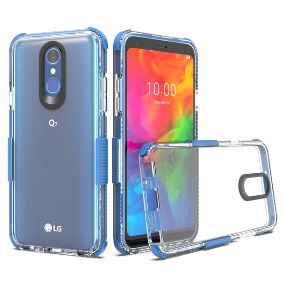 For LG Q7 Case Slim Fit Transparent Clear Case Hard Acrylic Back TPU Anti Shock Protective Cover For LG Q7 / Q7+ Plus / Q7 Alpha
