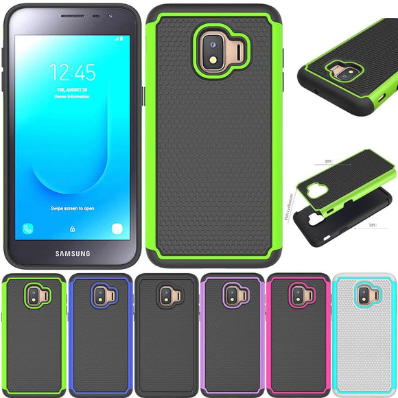 Heavy Duty 2 in 1 Hybrid Armor Case Anti Drop Protective Soft TPU & Hard Back Cover For Samsung Galaxy J2 Core J260 J260F J2Core