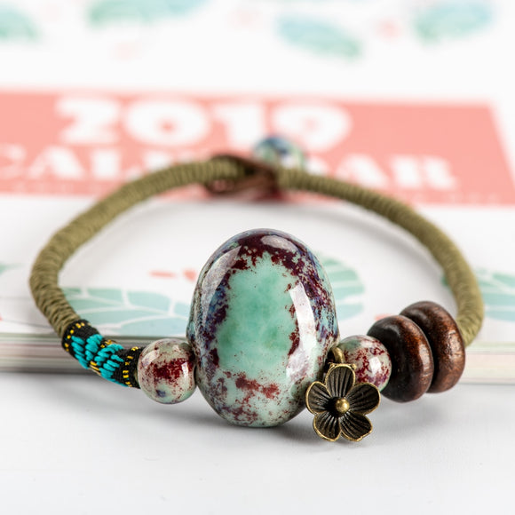 China Ceramics Stone Bracelets Original Luck Boho Ceramic jewelry for women drop shipping #HY369