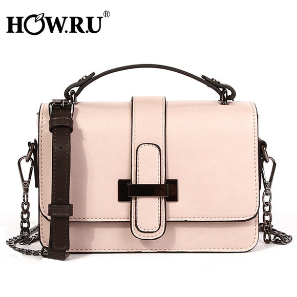 HOWRU Brand PU Leather Women Bags Designer 2019 Small Chain Side Bag Fashion Woman Crossbody Shoulder Bag Ladies Luxury Handbags