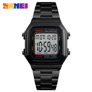 Luxury Brand SKMEI Sports Watches Countdown Electronic Digital Watch Men 30M Waterproof Outdoor LED Men Watch Relogio Masculino
