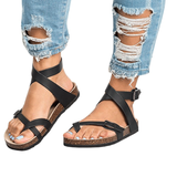 JUSTSL New Arrive Women Sandals Gladiator Summer Women Shoes Plus Size Flats Sandals Shoes For Women Casual Rome Style Sandalias
