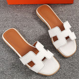 Woman's Summer Sandals Comfortable Beach Flat Shoes Crytal Sandal Sewing Footwear Large Size 40-43 Non Slip Sandalias