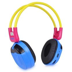 Sumas Media SMH-BTC11 Bluetooth Wireless Stereo Headphones (Yellow Blue and Red)