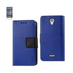 REIKO ALCATEL ONE TOUCH POP ASTRO 3-IN-1 WALLET CASE IN NAVY