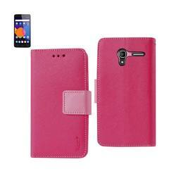 REIKO ALCATEL ONETOUCH PIXI 3 3-IN-1 WALLET CASE IN HOT PINK