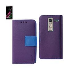 REIKO LG LS675 3-IN-1 WALLET CASE IN PURPLE