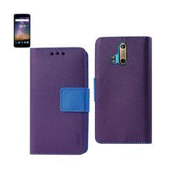 REIKO ZTE AXON PRO 3-IN-1 WALLET CASE IN PURPLE
