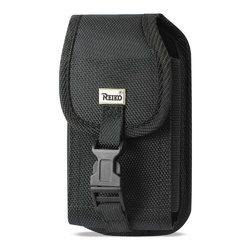 REIKO VERTICAL RUGGED POUCH SAMSUNG GALAXY MEGA 6.3 PLUS WITH BUCKLE CLIP IN BLACK (7.00x3.86x0.71INCHES)