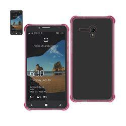 REIKO ALCATEL ONE TOUCH FIERCE XL MIRROR EFFECT CASE WITH AIR CUSHION PROTECTION IN CLEAR HOT PINK