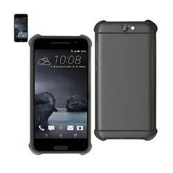 REIKO HTC ONE A9 MIRROR EFFECT CASE WITH AIR CUSHION PROTECTION IN CLEAR BLACK