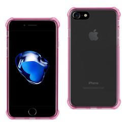 REIKO IPHONE 7 CLEAR BUMPER CASE WITH AIR CUSHION PROTECTION IN CLEAR HOT PINK