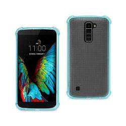 REIKO LG K10 MIRROR EFFECT CASE WITH AIR CUSHION PROTECTION IN NAVY