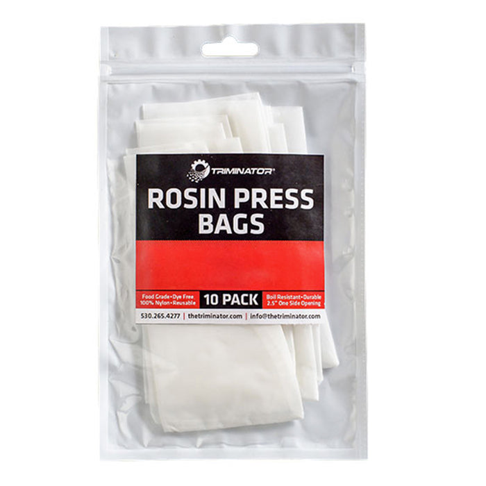 "Triminator 5.2"" x 2.5"" Nylon Rosin Press Bags - Pack of 10 (36u, 72u, 90u, 115u)"