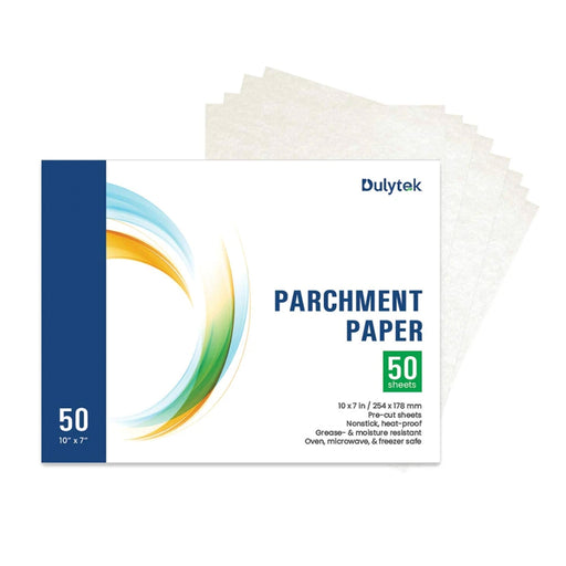 "Dulytek 50-sheet Rosin Press Parchment Paper, Pre-cut 10"" X 7"""