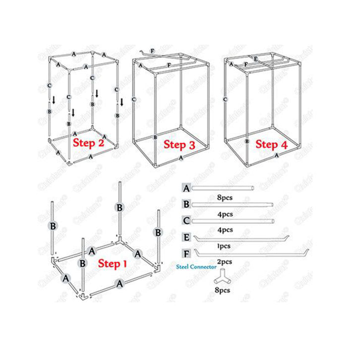 HomeGro 7x7x6.5 Professional Grow Tent